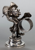 Silver Holloware, American:Napkin Rings, A DERBY SILVER CO. SILVER-PLATED FIGURAL NAPKIN RING . Circa 1880.Marks: DERBY SILVER CO. 5-1/2 inches high (14.0 cm). ...