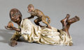 Paintings, A VIENNESE COLD-PAINTED BRONZE FIGURE ATTRIBUTED TO FRANZ XAVIER BERGMAN (AUSTRIAN, 1861-1936). Circa 1900. 4-1/8 inches lon...