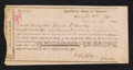 Confederate Notes:Group Lots, Interim Depositary Receipt Lexington, VA- $500 Mar. 14, 1864Tremmel VA-63.. ...