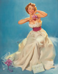 Pin-up and Glamour Art, GIL ELVGREN (American, 1914-1980). An Orchid for MissSylvania. Oil on canvas. 30 x 24 in.. Signed center left. ...