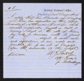 Confederate Notes:Group Lots, Interim Depositary Receipt Charleston, SC- $25,000 Aug. 2, 1864Tremmel SC-45.. ...