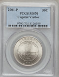 Modern Issues: , 2001-P 50C Capitol Visitor's Center Half Dollar MS70 PCGS. PCGSPopulation (57). NGC Census: (1710). Numismedia Wsl. Price...
