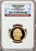 Proof Presidential Dollars, 2007-S $1 Madison PR69 Ultra Cameo NGC. PCGS Population (3370/180).Numismedia Wsl. Price for problem f...