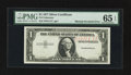 Error Notes:Missing Third Printing, Fr. ? $1 ? Silver Certificate. PMG Gem Uncirculated 65 EPQ.. ...