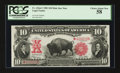 Large Size:Legal Tender Notes, Fr. 122* $10 1901 Mule Legal Tender PCGS Choice About New 58.. ...