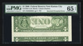 Error Notes:Inverted Reverses, Fr. 1933-J $1 2006 Federal Reserve Note. PMG Gem Uncirculated 65EPQ.. ...