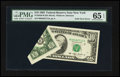 Error Notes:Foldovers, Fr. 2030-B $10 1993 Federal Reserve Note. PMG Gem Uncirculated 65EPQ.. ...
