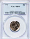 Proof Buffalo Nickels, 1915 5C PR66 PCGS....