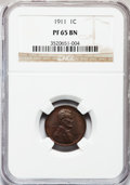 Proof Lincoln Cents, 1911 1C PR65 Brown NGC....