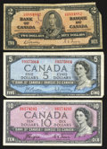 Canadian Currency: , 1937 and 1954 Canadian Notes.. ... (Total: 3 notes)