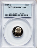 Proof Roosevelt Dimes, 2007-S 10C Clad PR69 Deep Cameo PCGS. PCGS Population (1523/269).Numismedia Wsl. Price for problem fre...