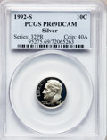 Proof Roosevelt Dimes: , 1992-S 10C Silver PR69 Deep Cameo PCGS. PCGS Population (2585/176).Numismedia Wsl. Price for problem f...