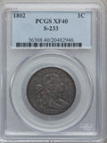 Large Cents, 1802 1C XF40 PCGS. S-233, B-13, R.2....