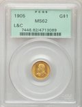 Commemorative Gold, 1905 G$1 Lewis and Clark MS62 PCGS....