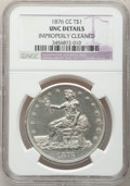 Trade Dollars, 1876-CC T$1 -- Improperly Cleaned -- NGC Details. Unc....