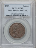Colonials, 1787 COPPER Nova Eborac Copper, Seated Left XF45 PCGS. Breen-986,W-5755, R.3....