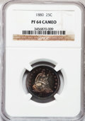 Proof Seated Quarters, 1880 25C PR64 Cameo NGC....