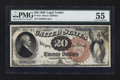 Large Size:Legal Tender Notes, Fr. 131 $20 1880 Legal Tender PMG About Uncirculated 55.. ...