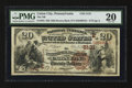 National Bank Notes:Pennsylvania, Union City, PA - $20 1882 Brown Back Fr. 504 The NB of Union CityCh. # (E)5131. ...