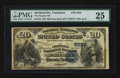 National Bank Notes:Tennessee, McMinnville, TN - $20 1882 Date Back Fr. 555 The Peoples NB Ch. #(S)2593. ...