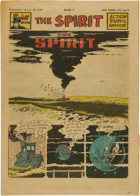 The Spirit Large Tabloid Section dated 1/30/49 (Philadelphia Bulletin, 1949) Condition: VF