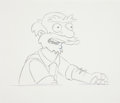 animation art:Production Drawing, The Simpsons Groundskeeper Willie Production DrawingAnimation Art (Fox, 2004)....