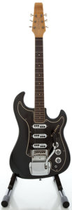 Musical Instruments:Electric Guitars, 1960's Baldwin Jazz Guitar Black Solid Body Electric Guitar, Serial #16035....