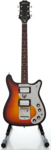 Musical Instruments:Electric Guitars, 1970's Epiphone Crestwood Sunburst Solid Body Electric Guitar...