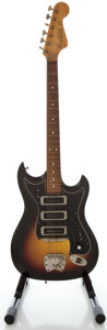 Musical Instruments:Electric Guitars, 1960's Hagstrom III Sunburst Solid Body Electric Guitar, Serial #656764....
