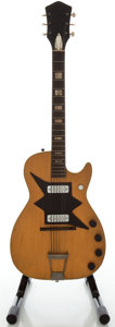Musical Instruments:Electric Guitars, 1960's Harmony Roy Smeck Natural Solid Body Electric Guitar...