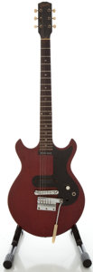 Musical Instruments:Electric Guitars, Circa 1965 Gibson Melody Maker Cherry Solid Body Electric Guitar, Serial #504724....