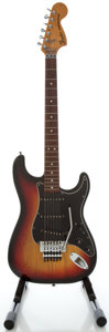 Musical Instruments:Electric Guitars, 1976 Fender Stratocaster Sunburst Solid Body Electric Guitar,Serial #7671425....