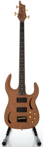 Musical Instruments:Bass Guitars, Milano Custom Natural Electric Bass Guitar, Serial #0501....
