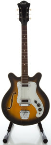 Musical Instruments:Electric Guitars, 1960's Comet Italy Sunburst Semi-Hollow Body Electric Guitar,Serial #197....