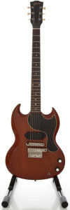 Musical Instruments:Electric Guitars, Circa 1963 Gibson SG Junior Cherry Solid Body Electric Guitar,Serial #201410....