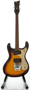 Musical Instruments:Electric Guitars, 1960's Mosrite Ventures Sunburst Solid Body Electric Guitar, Serial#4572....