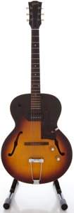 Musical Instruments:Electric Guitars, 1960 Gibson ES 125 T Sunburst Semi-Hollow Body Electric Guitar,Serial #R6793 32....