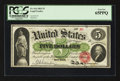 Large Size:Legal Tender Notes, Fr. 61a $5 1862 Legal Tender PCGS Gem New 65.. ...