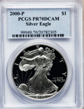 Modern Bullion Coins: , 2000-P $1 Silver Eagle PR70 Deep Cameo PCGS. PCGS Population (218).NGC Census: (1860). Numismedia Wsl. Price for problem ...