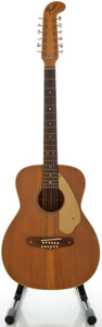 Musical Instruments:Acoustic Guitars, Late 1960's Fender Villager Natural 12 String Acoustic Guitar,Serial #326331....