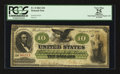 Large Size:Demand Notes, Fr. 8 $10 1861 Demand Note PCGS Apparent Very Fine 25.. ...