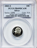 Proof Roosevelt Dimes: , 2003-S 10C Silver PR69 Deep Cameo PCGS. PCGS Population (3786/399).Numismedia Wsl. Price for problem f...