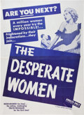 Memorabilia:Poster, The Desperate Women Movie Poster and Lobby Card (Topas,1958).... (Total: 2 Items)