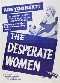 The Desperate Women Movie Poster and Lobby Card (Topas, 1958).... (Total: 2 Items)