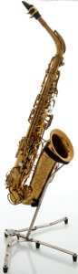 Musical Instruments:Horns & Wind Instruments, Circa 1957 The Martin Brass Alto Saxophone, Serial #200434....