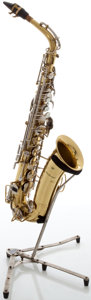 Musical Instruments:Horns & Wind Instruments, Circa late 1960's Buescher Aristocrat Brass Alto Saxophone, Serial#411776....