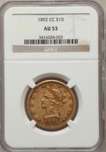 Liberty Eagles: , 1892-CC $10 AU53 NGC. NGC Census: (55/249). PCGS Population(57/103). Mintage: 40,000. Numismedia Wsl. Price for problem fr...