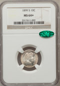 Barber Dimes, 1899-S 10C MS64+ NGC. CAC....