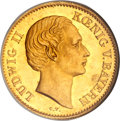 German States:Bavaria, German States: Bavaria. Ludwig II gold Gulden ND (1850) SPQW,...