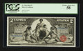 Large Size:Silver Certificates, Fr. 248 $2 1896 Silver Certificate PCGS Choice About New 58.. ...